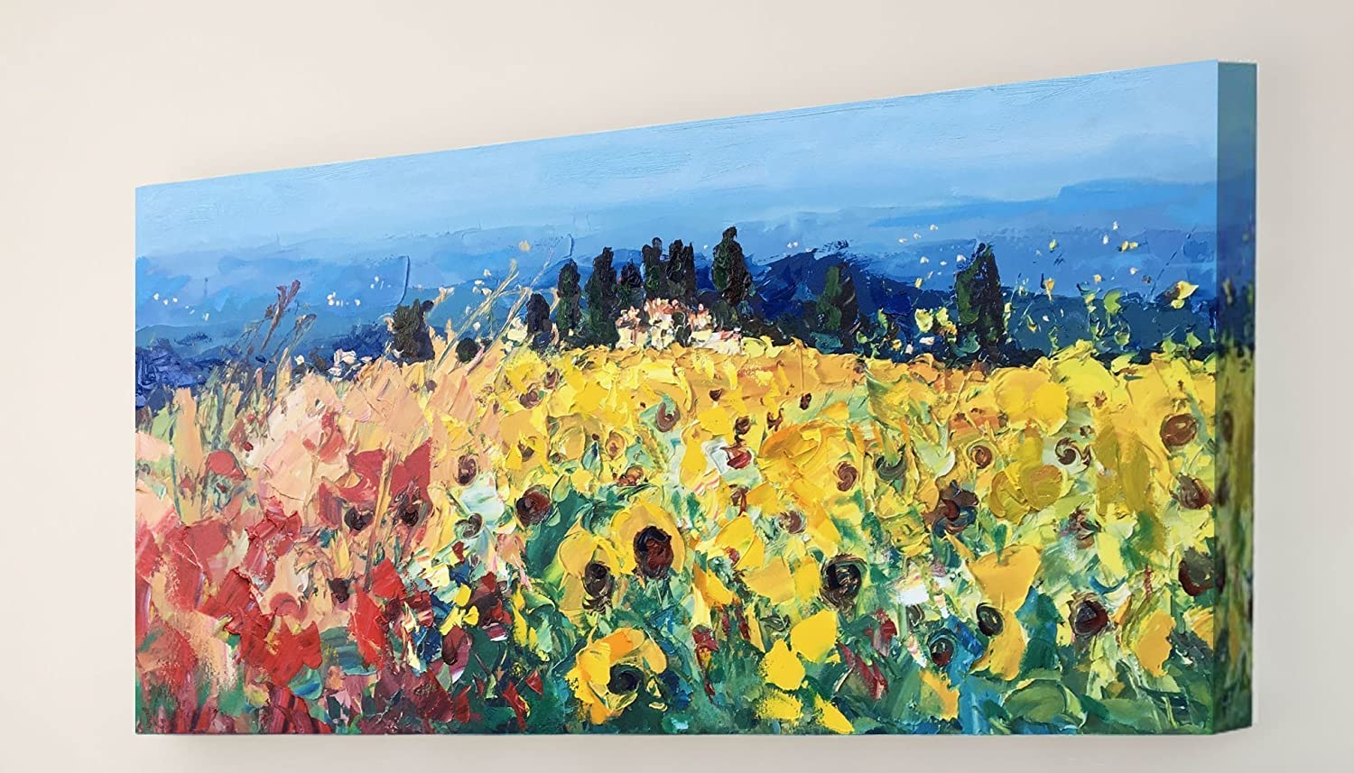 Amazon.com: Tuscan Landscape Painting One of a Kind Original Mixed ...