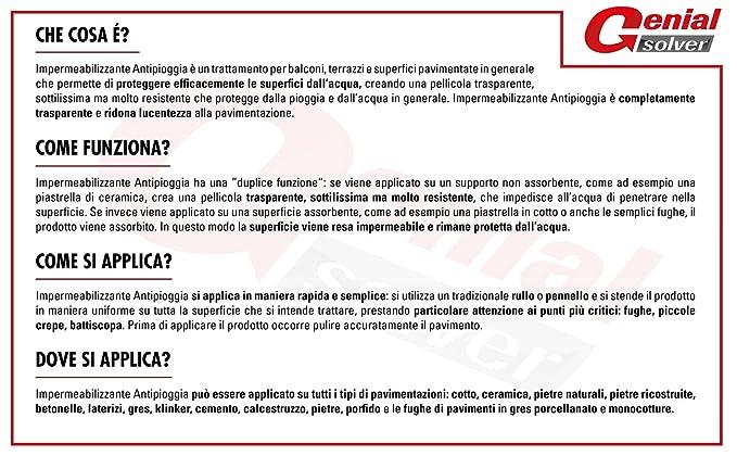 GENIAL SOLVER IMPERMEABILIZZANTE TRASPARENTE ANTI-PIOGGIA ...