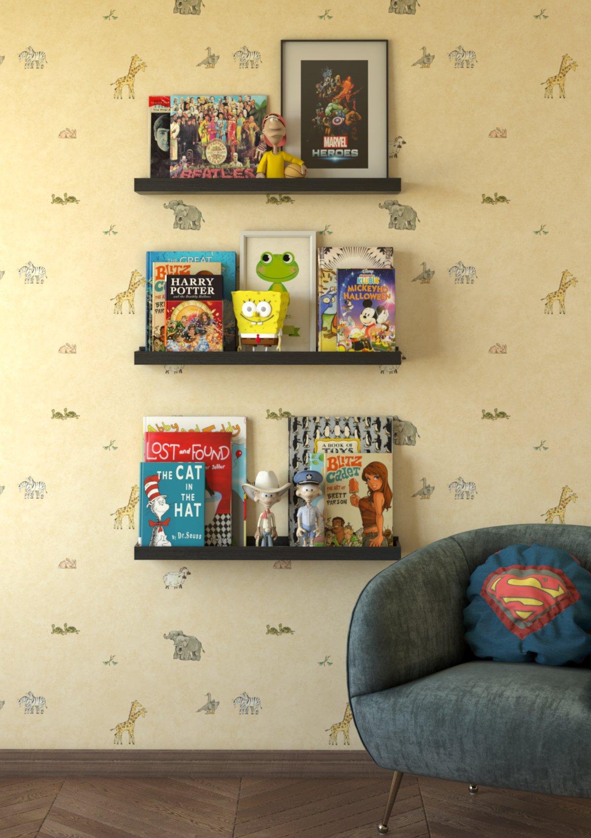 Wallniture Nursery Room Wall Shelf – Floating Book Shelves Decor for ...