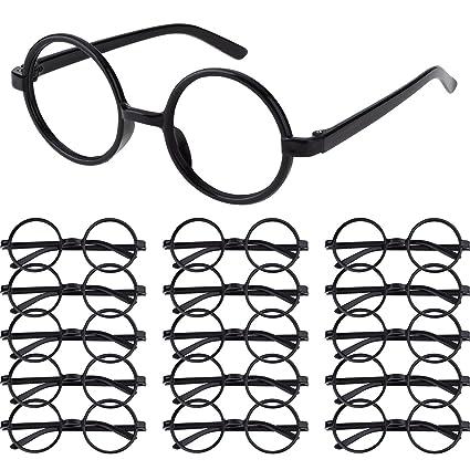 Amazon.com: Shappy 16 Pack Plastic Wizard Glasses Round Glasses ...