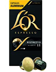 L'Or Espresso Café Ristretto Intensité 11 - 50 Capsules en Aluminium Compatibles Nespresso®* (Lot de 5X10 capsules)