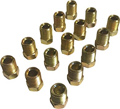 """Pack of 3 Bubble Flare 3//16/"""" Tube nuts /& Union for 3//8/""""-24"""