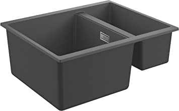 Granite Gray K500 Fregadero individual y desag/üe GROHE 31644AT0 86 x 50 cm