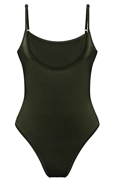 f08af35b15 Image Unavailable. Image not available for. Color  XWDA Bodysuit Women s  One Piece Swimsuit Sexy Leotard Jumpsuit Clubwear