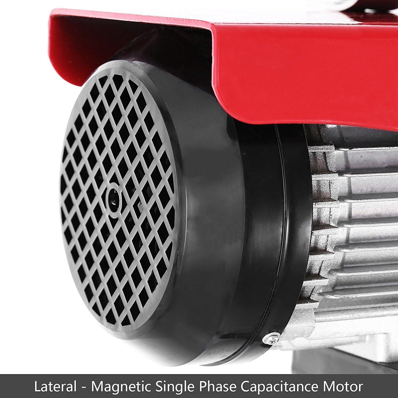 600kg Tecmaqui Polipasto El/éctrico 1320LBS 600KG Elevador el/éctrico 220V 12M Montacargas El/éctrico para Garage y Levantar Herramientos Pesados