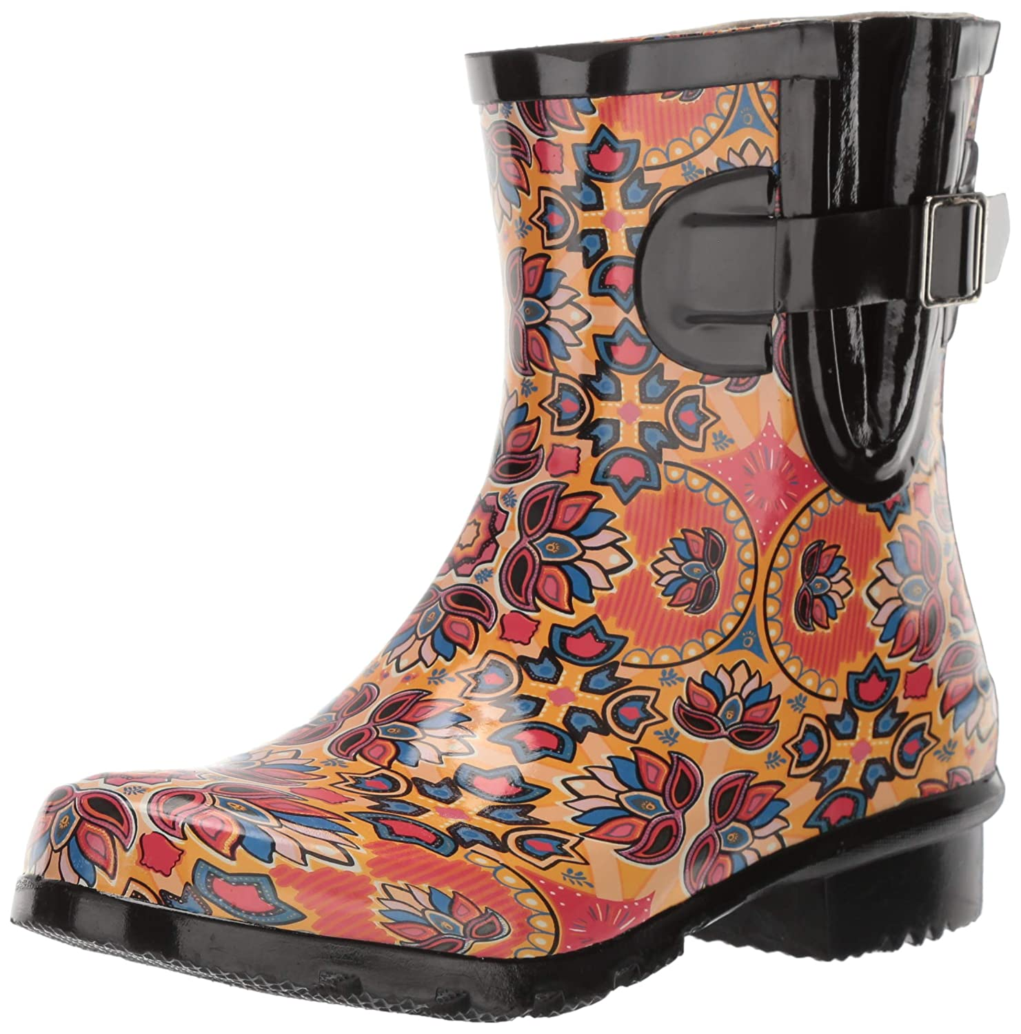 orange Lotus Nomad Women's Droplet Rain Boot