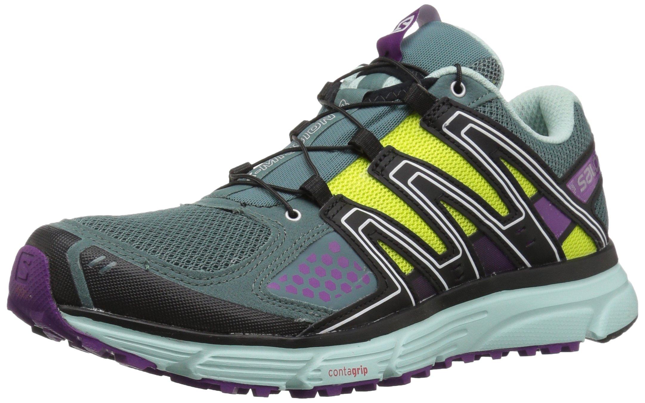Salomon Women's X-Mission 3W Trail Running Shoe, North Atlantic, 8.5 M US
