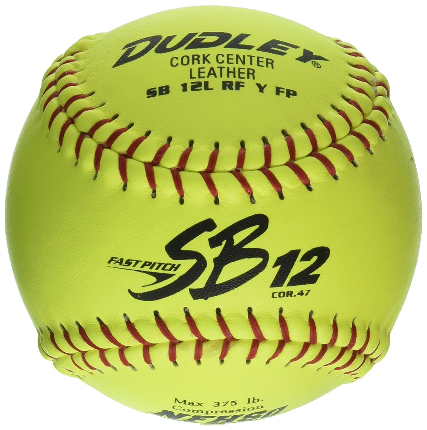 Dudley NFHS SB NFHS 12lレザーイエロー高速ピッチソフトボール( 47/ 375-pounds 12-inch 12-inch 375-pounds ) B002MVLO1E イエロー, 代官山お買い物通り:25e994a8 --- sayselfiee.com