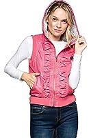 ViiViiKay Women's Lightweight Outdoor Moto Faux Leather Vest Warm Fashion Jacket