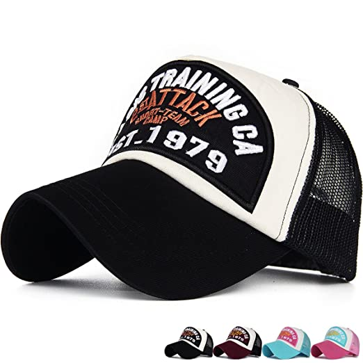 74f61d5d22f Amazon.com: Rayna Fashion Mesh Snapback Trucker Hat Structured ...