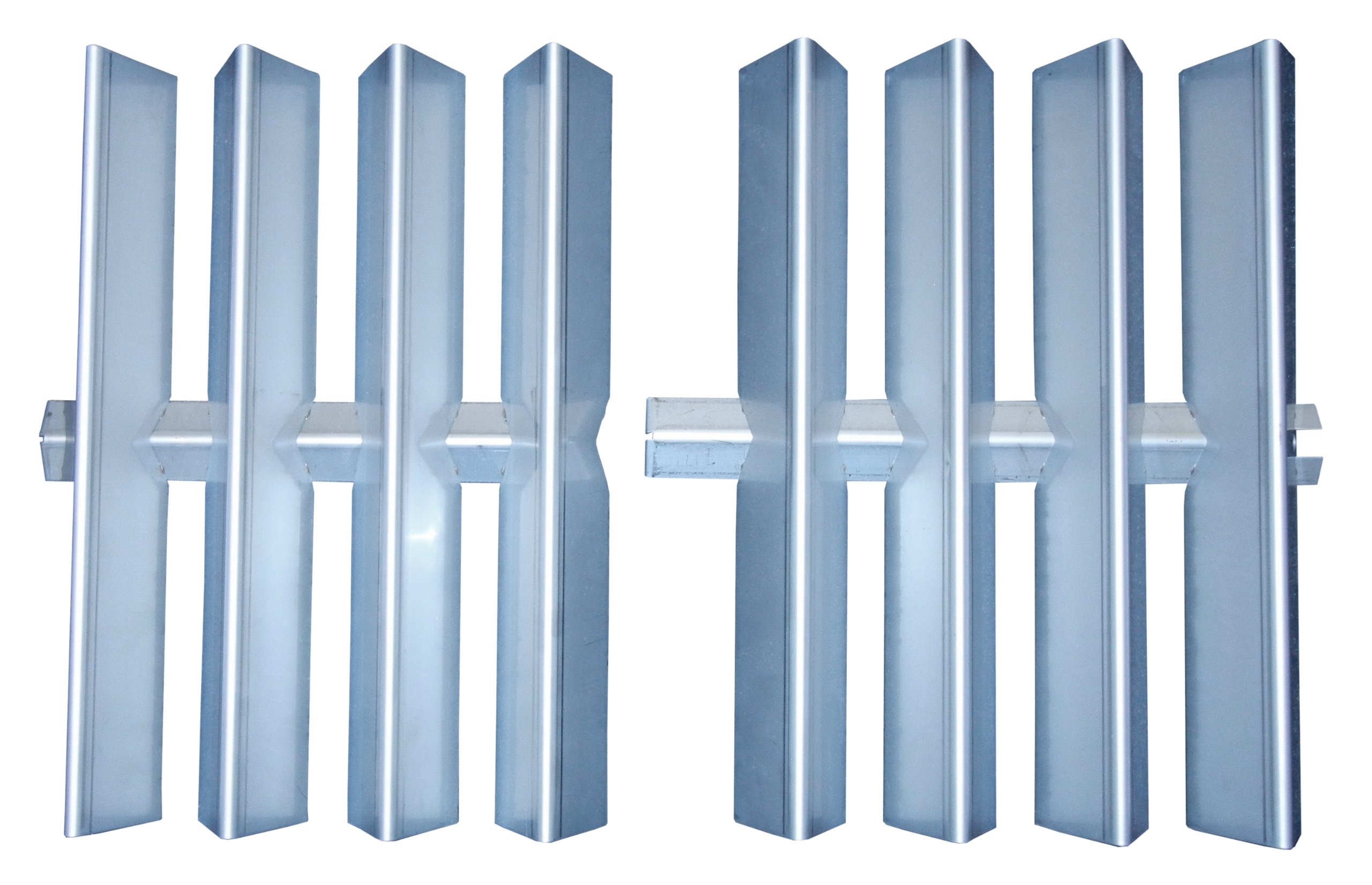 Music City Metals 98982 Stainless Steel Heat Plate Replacement for Select Weber Gas Grill Models, 15.875 by 26-Inch, Set of 2