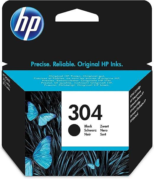 Oferta amazon: HPN9K06AE 304 Cartucho de Tinta Original, 1 unidad, negro