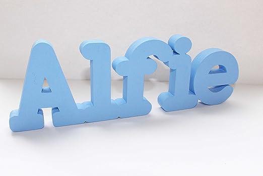 Señal de letras para nombre personalizado Alfie, ideal para regalo ...