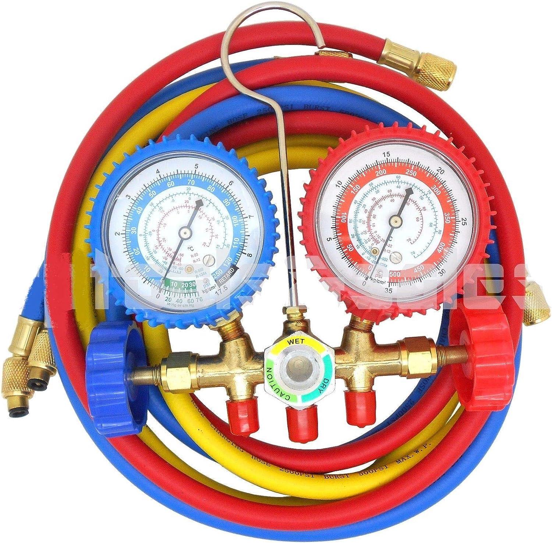 A//C Manifold Brass Gauge 1 Set R134A R12 R22 R502 HVAC Air Conditioner Refrige
