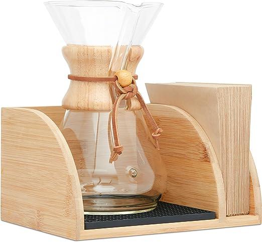 Mazonia Carrito para el chemex cafetera - lujosa madera de bambú ...