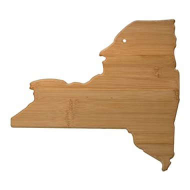 Totally Bamboo New York State Shaped Bamboo Serving and Cutting Board