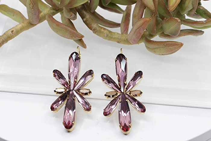 Image Unavailable. Image not available for. Color: Antique Pink Earring ...