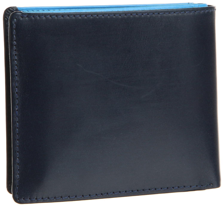 [ブリティッシュグリーン] BRITISH GREEN ダブルブライドルレザー二つ折り財布 B007ELQHDM ネイビー/ブルー ネイビー/ブルー