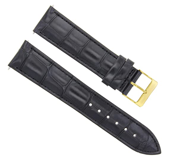 0d86569fe32 Image Unavailable. Image not available for. Color  20MM Leather Band Strap  for 36MM Rolex DATEJUST Black Gold