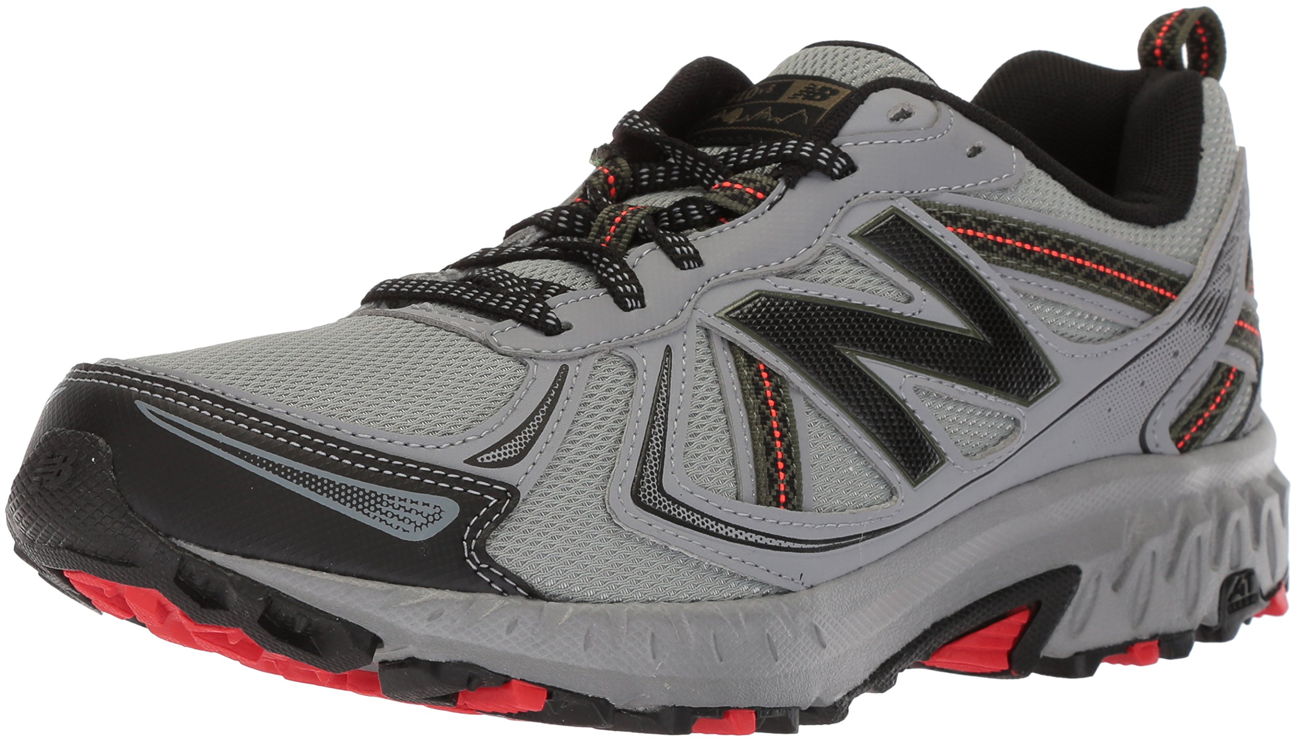 New Balance Men's MT410v5 Cushioning Trail Running Shoe, Steel, 8 D US by New Balance (Image #1)