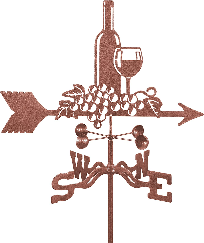 Wine /& Grapes Roof Mount Weathervane
