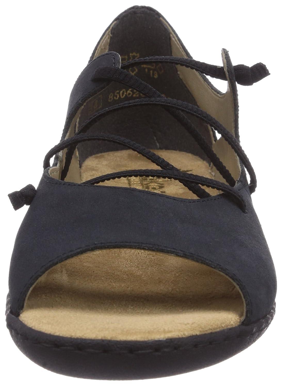 Rieker Women's V1650 Ballet Flats Blue Blau (pazifik / 15) Size: 5:  Amazon.co.uk: Shoes & Bags