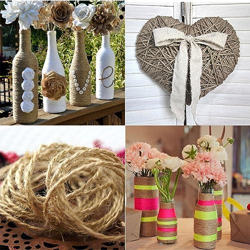 Wedding craft supplies amazon 10m natural jute yarn rustic string rope twine cord diy supplies drawstring decoration antique craft junglespirit Images