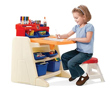 Amazoncom Step2 Flip and Doodle Easel Desk with Stool Toys Games