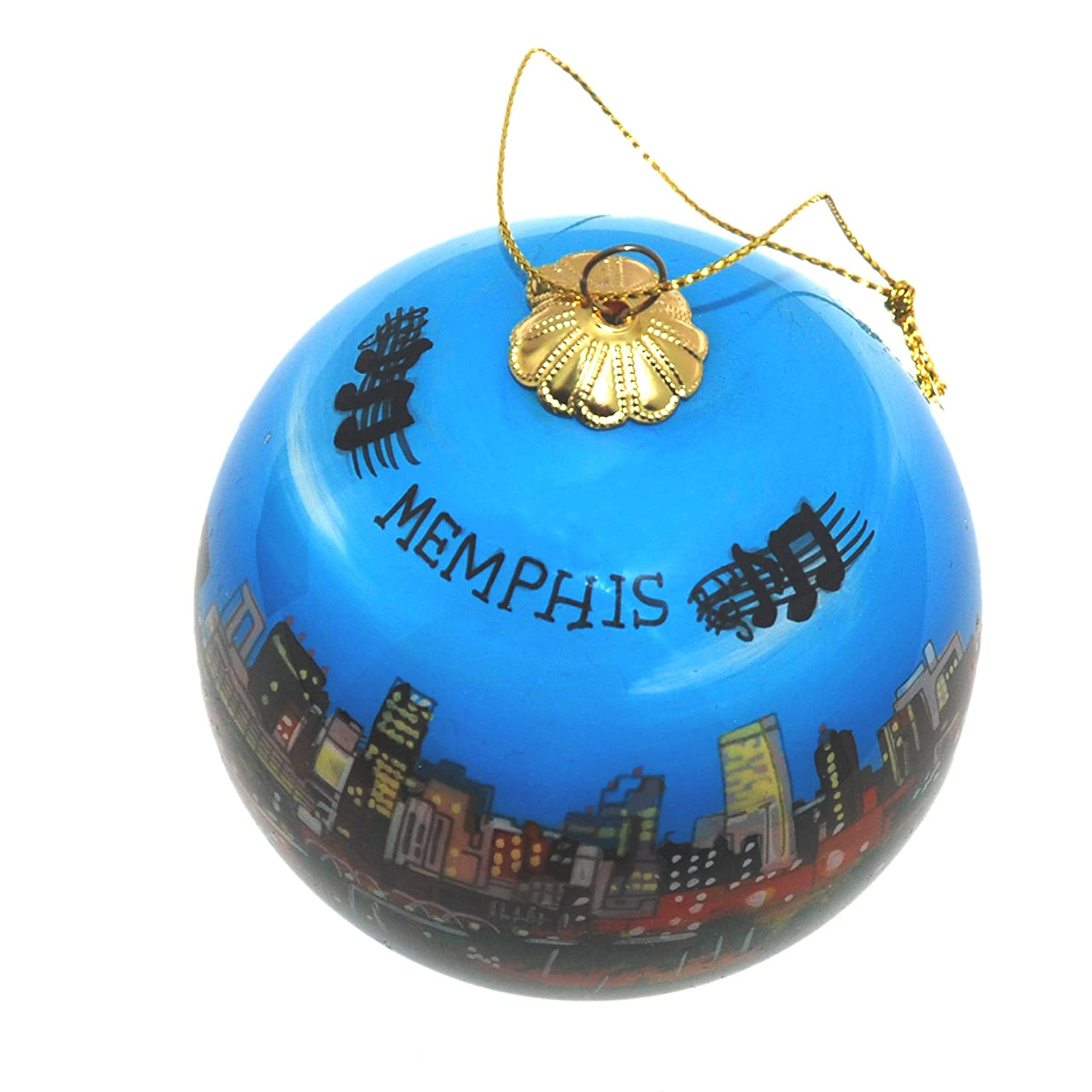 Amazon Hand Painted Glass Christmas Ornament Memphis