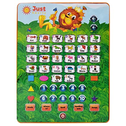 Amazon Com Just Smarty Abc Tablet Interactive Educational Toys For