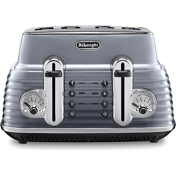 Delonghi Grey Scultura Toaster