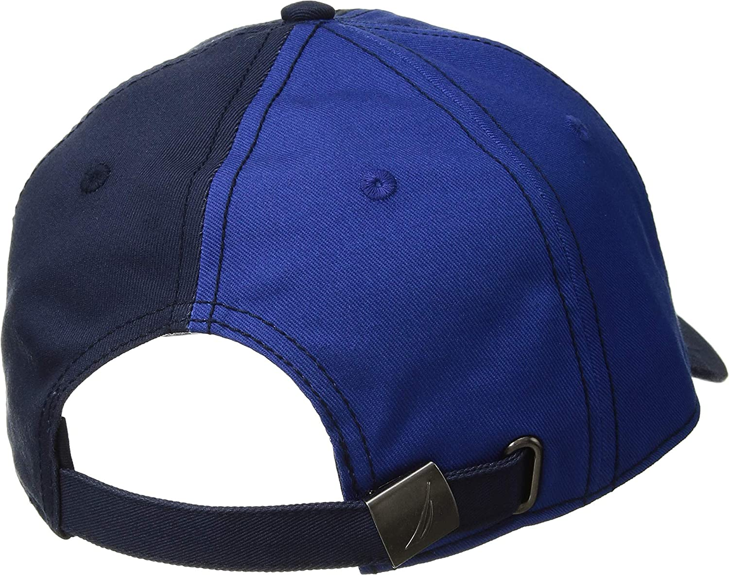 5a1ea9d3f7048 Nautica Men s Color Block Dad Hat Navy One Size at Amazon Men s Clothing  store