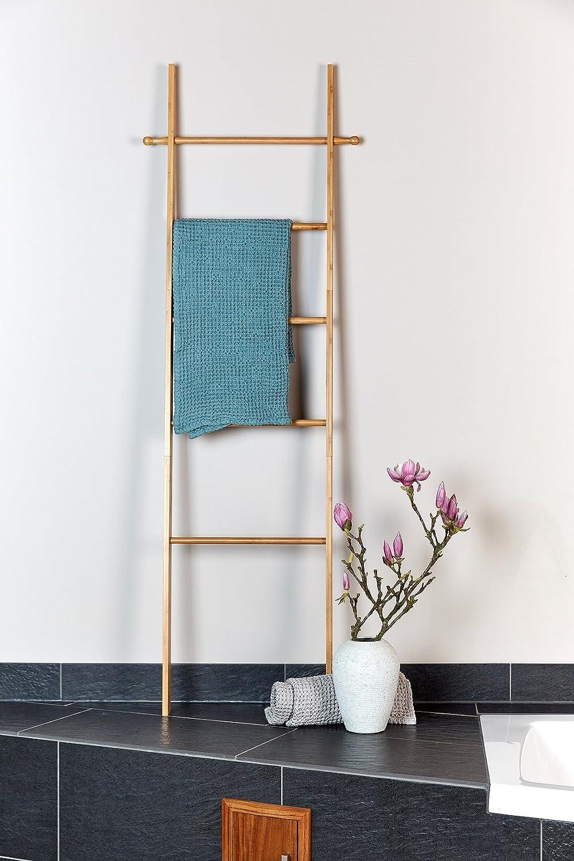 Bambus Wenko Toallero p apoyar en pared Bahari bambo Braun 43 x 170 x 33 cm