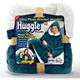 Ontel Huggle Hoodie, Ultra Plush Blanket, Sea Blue, One Size
