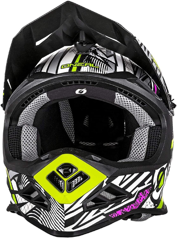O Neal 8 Series Synthy Motocross Enduro Mtb Helm Schwarz Pink Gelb 2018 Oneal Größe Xl 61 62 Cm Auto