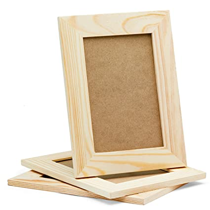 Diy Picture Frames 4x6 Craft Frames Set Unfinished Solid Pine Wood Diy Photo Frames For Arts And Crafts Diy Painting Projects Set Of 3 6x8 Frame
