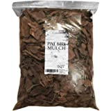 Pine Bark Mulch, 100% Natural Pine Bark Mulch, House Plant Cover Mulch, Potting Media, and More (8qt)