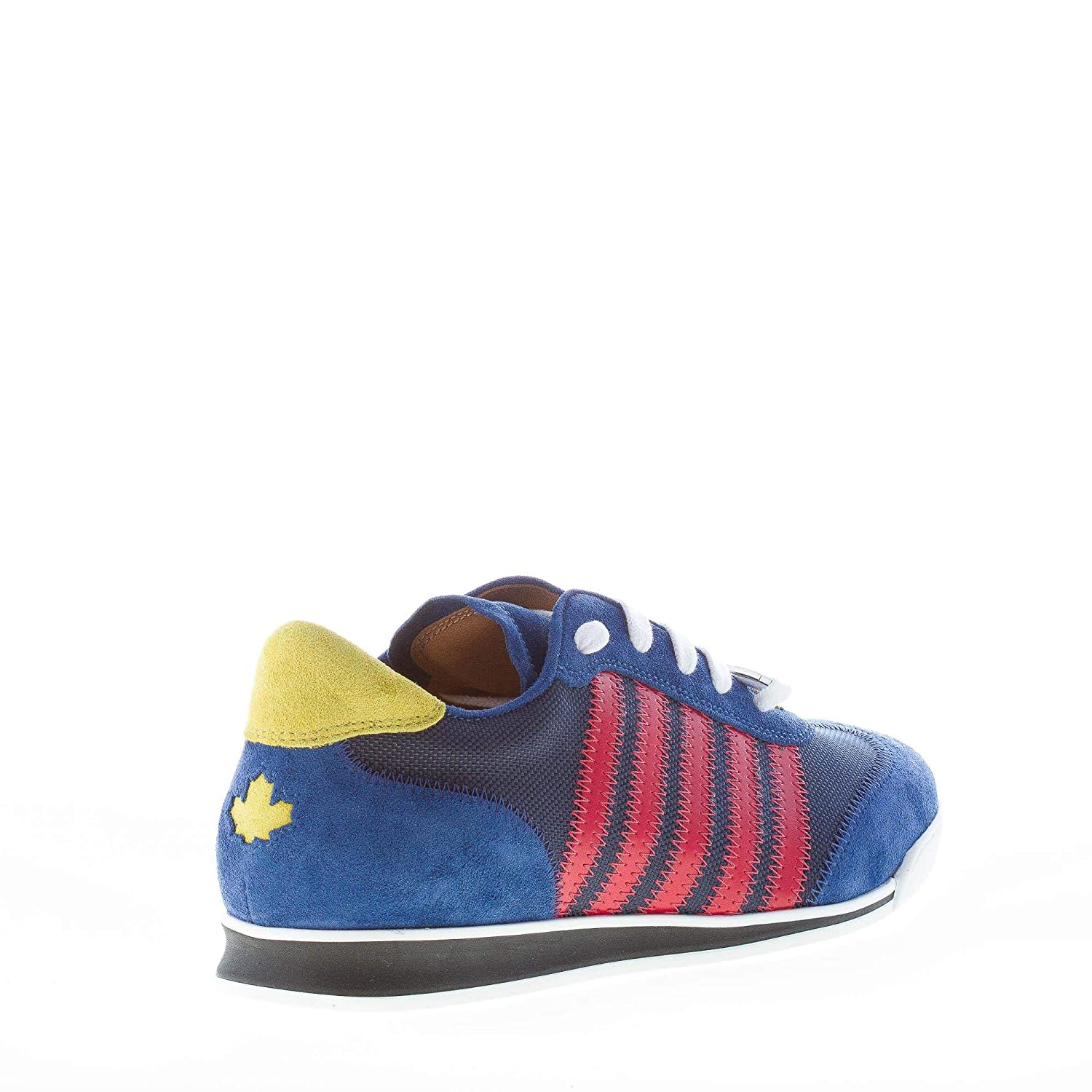 DSQUARED2 Men Shoes New Runner Blue Suede Nylon Sneaker red Stripes  W17SN419  Amazon.co.uk  Shoes   Bags 8a42f3955f87