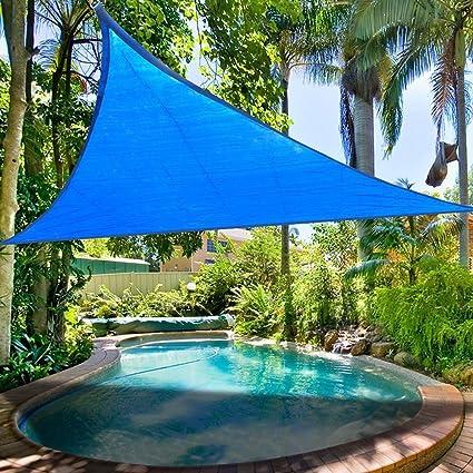 Yescom 11.5u0027 Triangle Sun Shade Sail Patio Deck Beach Garden Yard Outdoor  Canopy Cover Uv