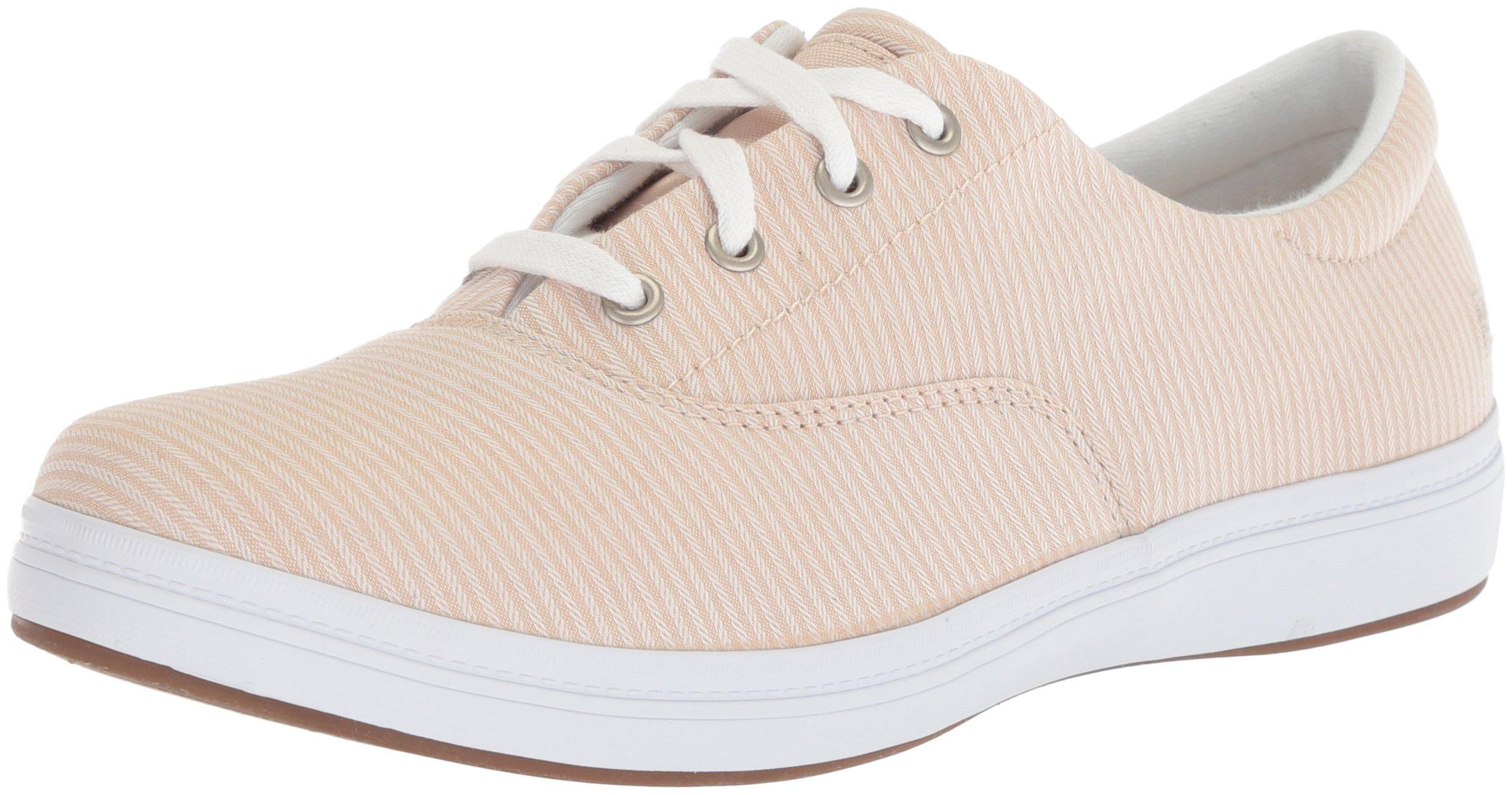 Grasshoppers Women's Janey Ll Textural Stripe Sneaker, Stone, 8 M US