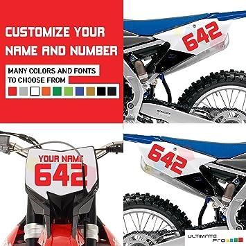 Amazoncom X Custom Decal Stickers For Dirt Bike Motorcycle - Custom motorcycle stickers