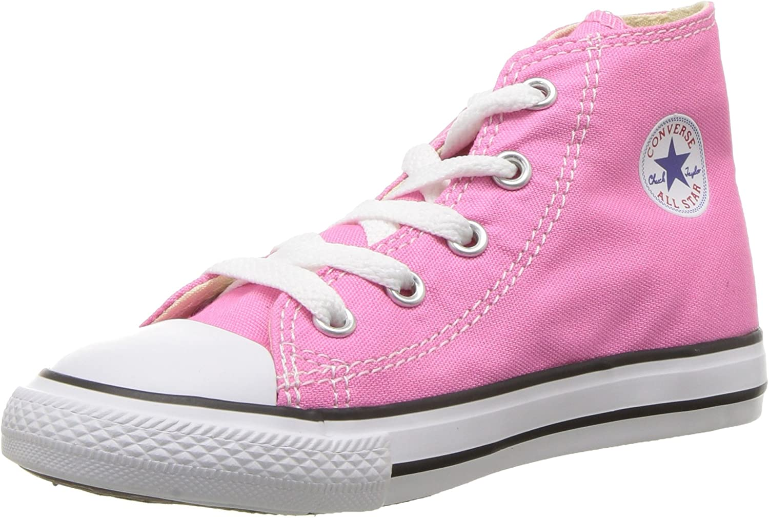 B0000937L9 Converse Kids' Chuck Taylor All Star Canvas High Top Sneaker, Pink, 16 M US 81WEmdmCV5L