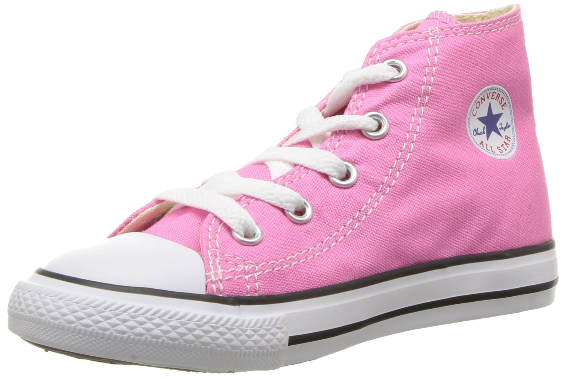 Converse Baby Chuck Taylor All Star Canvas High Top Sneaker, Pink, 3 M US Infant