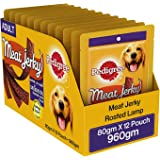 Pedigree Meat Jerky Stix, Lamb Flavoured Adult Dog Treats – 80 g (Pack of 12)