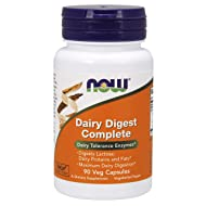 NOW Dairy Digest Complete,90 Veg Capsules