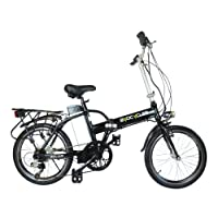 """Byocycles Unisex's City Speed Electric Bike, Black & Green, 17"""""""