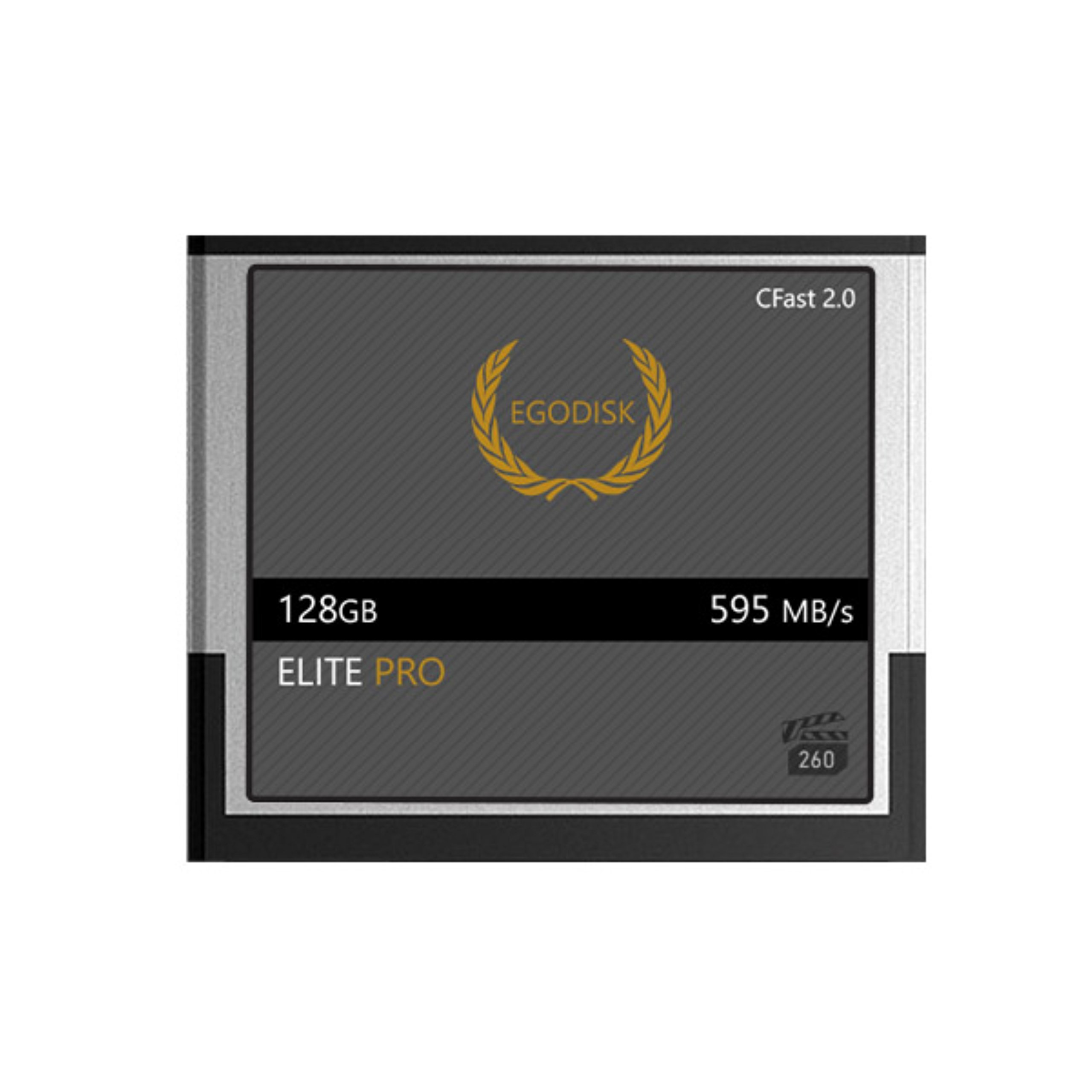 EgoDisk ELITE PRO 128GB CFast 2.0 Card - (EOS 1DX Mark II | EOS C200 | EOS C300 Mark II | EOS C700 | XC10 | XC15) by EgoDisk