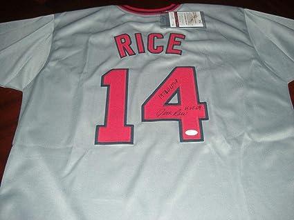 pretty nice 25166 ce303 Autographed Jim Rice Jersey - Redsox 79 Al Mvp hof 09 Grey ...