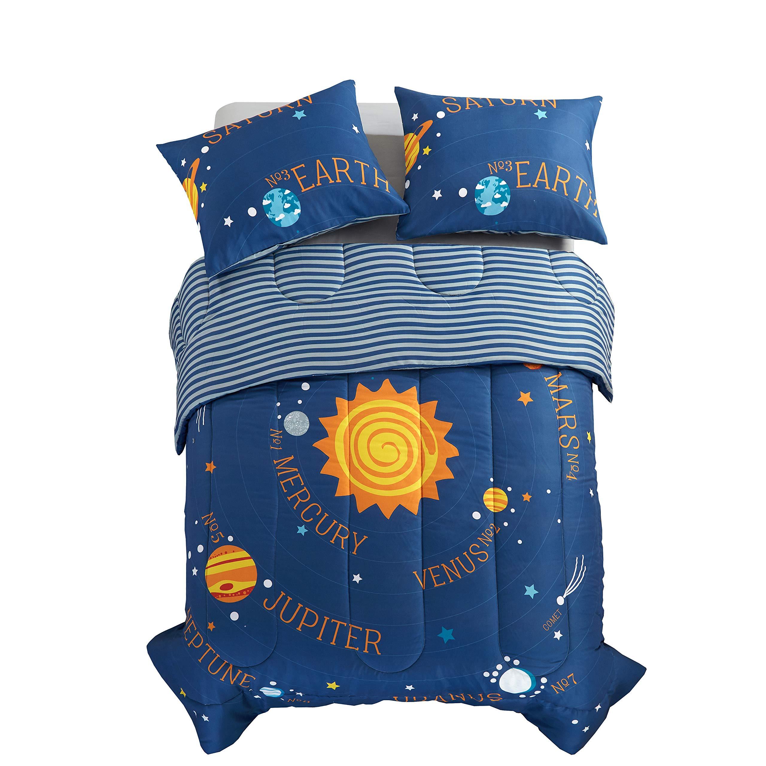American Kids Solar System Comforter Set, Blue, Twin