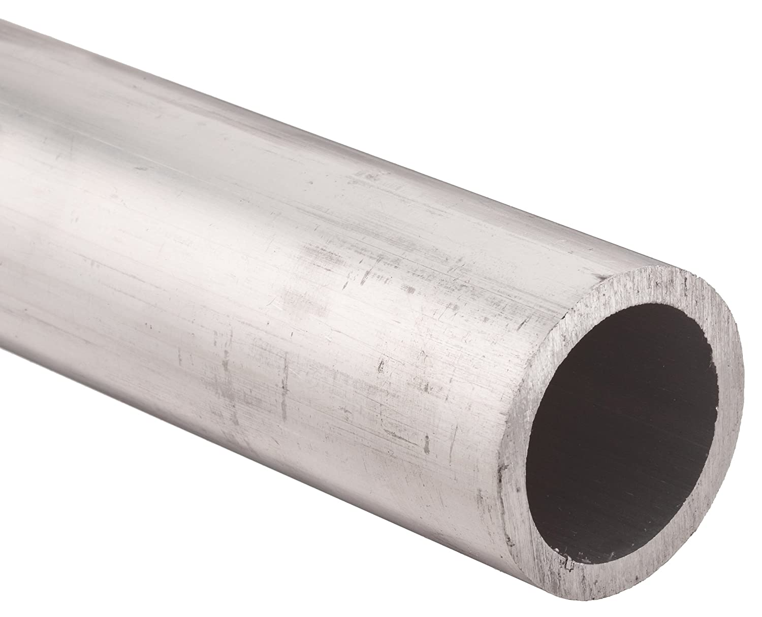 Aluminum 6061-T6 Extruded Round Tubing 2-0.25 OD 0.25 Wall 1.75 ID ASTM B210 12 Length